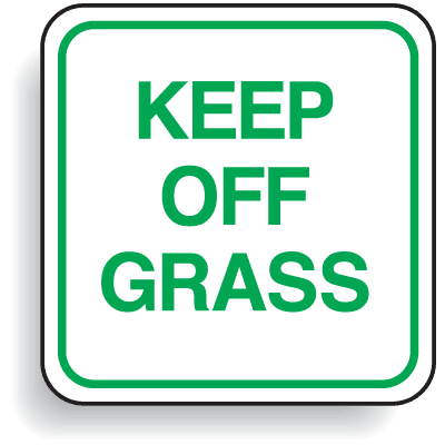 Mini Parking Signs - Keep Off Grass