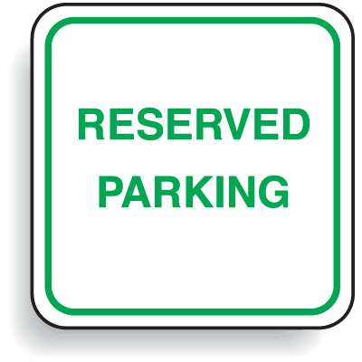 Mini Parking Signs - Reserved Parking