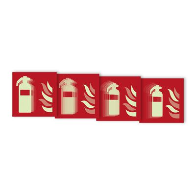 Seton Motion® Fire Protection Sign Fire Extinguisher
