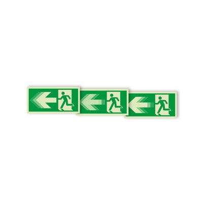 Seton Motion® Running Man Escape Route Sign Exit Left