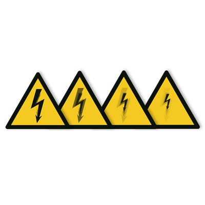 Seton Motion® Warning Sign Electrical Shock/Electrocution
