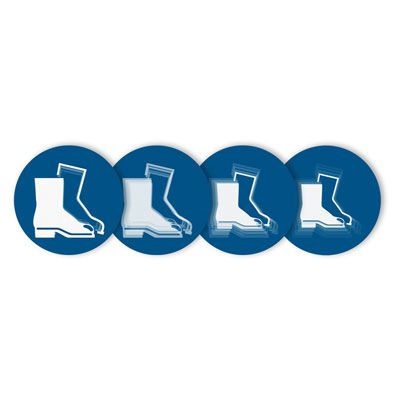 Seton Motion® Mandatory Sign Foot Protection Required
