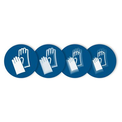 Seton Motion® Mandatory Sign Hand Protection Required