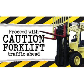 Motivational Banners - Caution Forklift Traffic