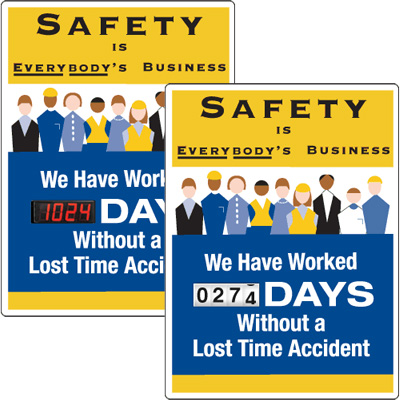 Motivational Safety Scoreboards - Safety Is Everybody's Business