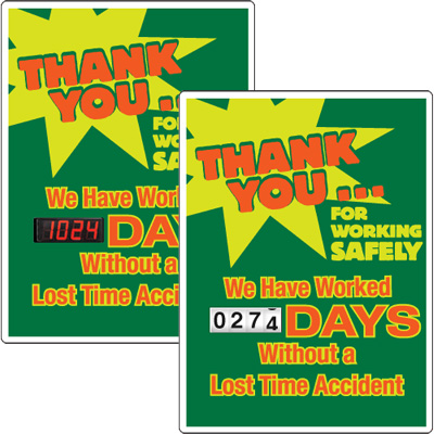 Motivational Safety Scoreboards - Thank You For Working Safely