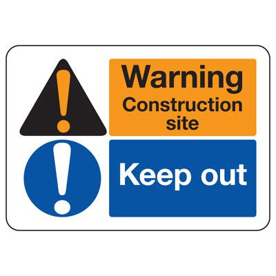 ANSI Signs - Warning, Construction Site, Keep Out