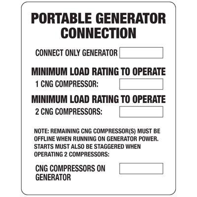 N-34 Portable Generator Connection - Vinyl
