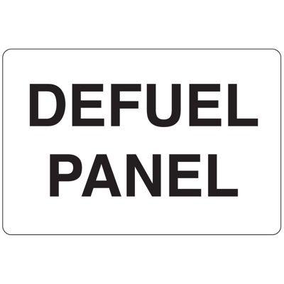 N-8 Defuel Panel - Vinyl