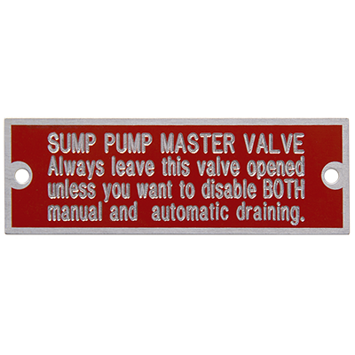 Custom Sized MetalPhoto® Equipment Nameplates