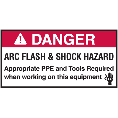 NEC Arc Flash Protection Labels - Arc Flash & Shock Hazard