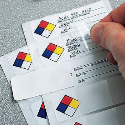 NFPA Self-Laminating Labels - Chemical Name/Owner