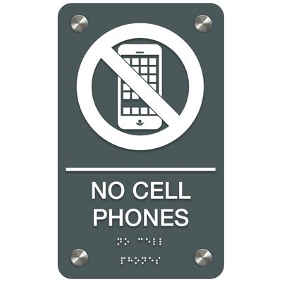 No Cellphones - Premium ADA Facility Signs