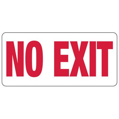 No Exit - Exit Sign
