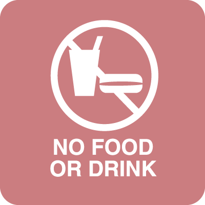 No Food Or Drink Optima Policy Signs