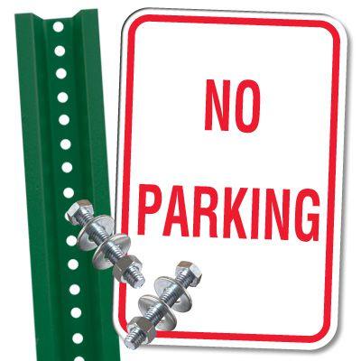 No Parking Sign & Post Kit - No Parking
