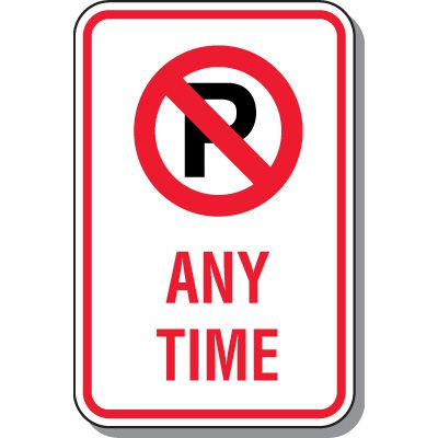 No Parking Signs - Any Time (No Parking Symbol)