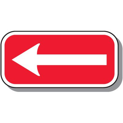 No Parking Signs - One-Way Arrow (Red)