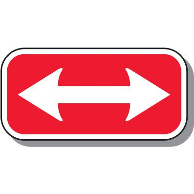 No Parking Signs - Two-Way Arrow