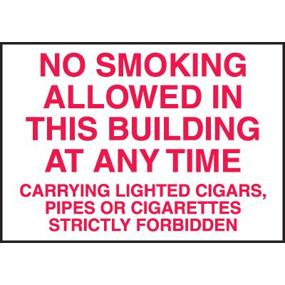 No Smoking Allowed in this Building Signs