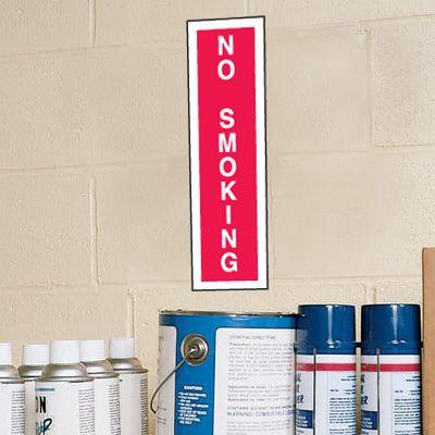 No Smoking Signs - 4W x 14H Plastic