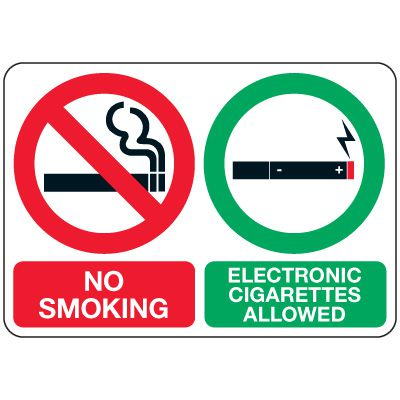 No Smoking Signs - No Smoking Electronic Cigarettes Allowed