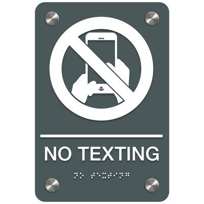 No Texting - Premium ADA Facility Signs