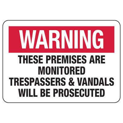 Vandalism Signs - Warning