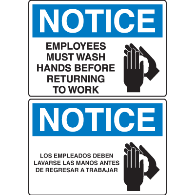 picture about Wash Hands Sign Printable known as OSHA Awareness Signs or symptoms -Attention Staff Ought to Clean Fingers