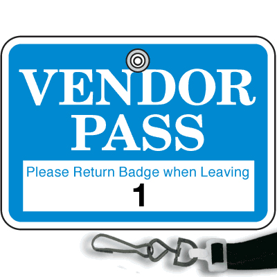Numbered Badge Sets - Vendor Pass - Lanyard