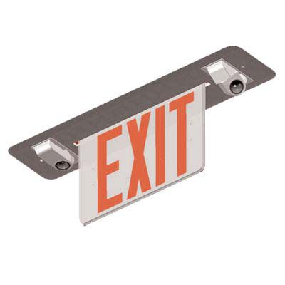 NYC Approved Recessed Combination Edgelit Exit Sign