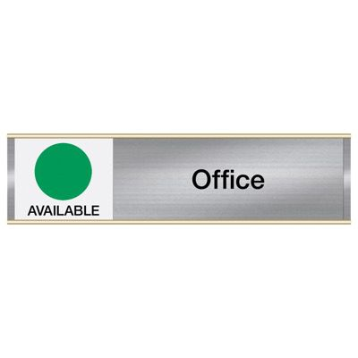 Office-Available/In Use - Engraved Facility Sliders