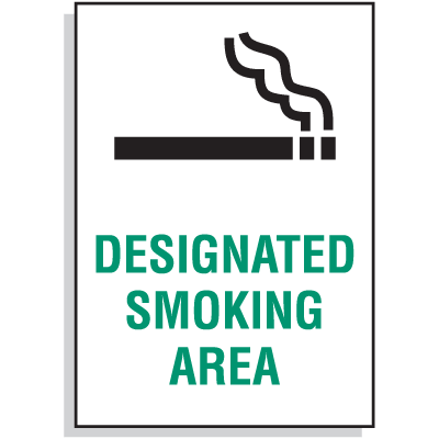 Designated Smoking Area Signs