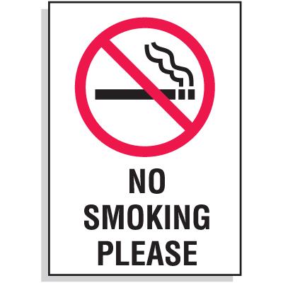 No Smoking Please Signs