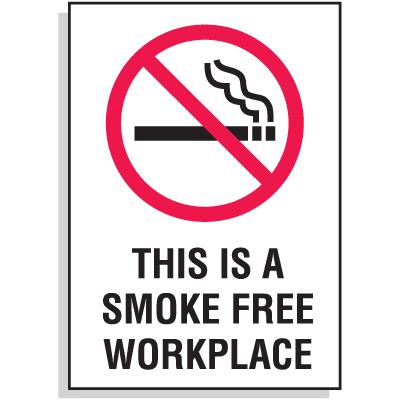No Smoking Signs - Smoke Free Workplace
