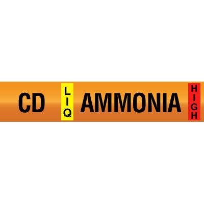Opti-Code™ Ammonia Pipe Markers - Condenser Drain