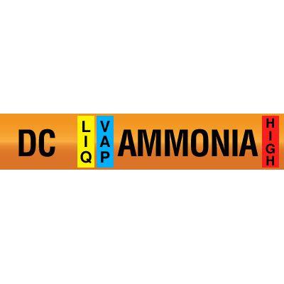 Opti-Code™ Ammonia Pipe Markers - Defrost Condensate