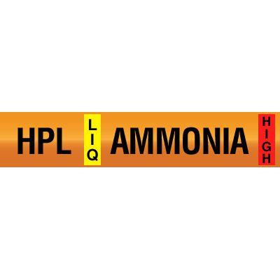 Opti-Code™ Ammonia Pipe Markers - High Pressure Liquid