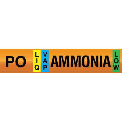 Opti-Code™ Ammonia Pipe Markers - Pump Drain