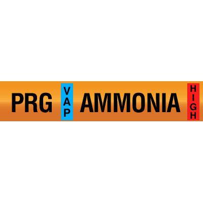 Opti-Code™ Ammonia Pipe Markers - Purge