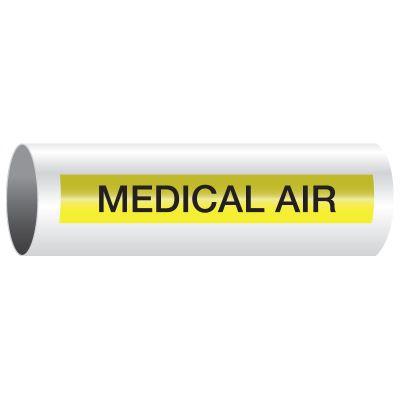 Opti-Code™ Self-Adhesive Medical Gas Pipe Markers - Medical Air