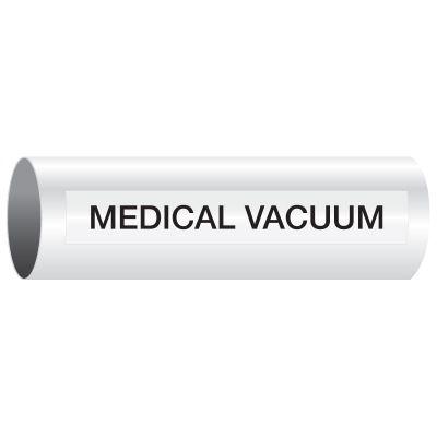 Opti-Code™ Self-Adhesive Medical Gas Pipe Markers - Medical Vacuum