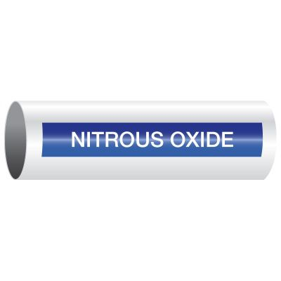 Opti-Code™ Self-Adhesive Medical Gas Pipe Markers - Nitrous Oxide