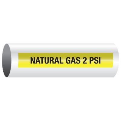 Opti-Code™ Self-Adhesive Medical Gas Pipe Markers - Natural Gas 2 PSI