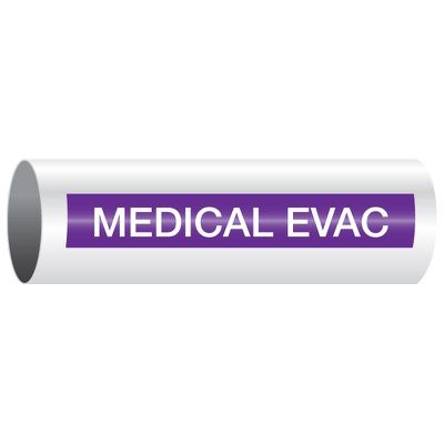 Opti-Code™ Self-Adhesive Medical Gas Pipe Markers - Medical Evac