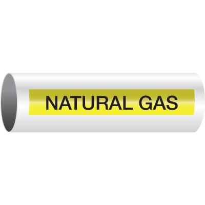Opti-Code™ Self-Adhesive Pipe Markers - Natural Gas