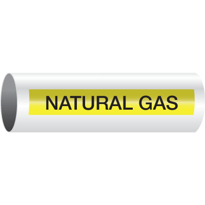 Opti-Code™ Self-Adhesive Pipe Markers - Natural Gas - 8SM: Fits Pipes 3/4 Thru 1-3/8 Dia.