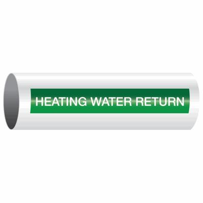 Opti-Code™ Self-Adhesive Pipe Markers - Heating Water Return