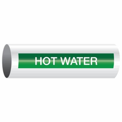 Opti-Code™ Self-Adhesive Pipe Markers - Hot Water