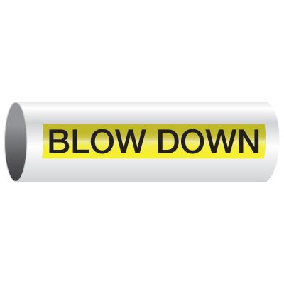 Opti-Code® Pipe Markers - Blow Down